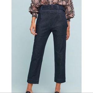 New cartonnier by Anthropologie belted denim pants